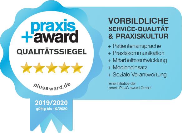 Zahnarztpraxis Schönenstein - Ausgezeichnete Praxis mit dem Praxis Award Qualitätssiegel